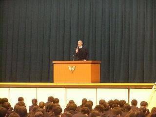 生徒指導主任講話