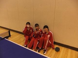 卓球部 練習中!